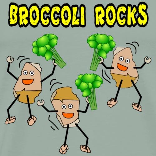 Three Broccoli Rocks - Men's Premium T-Shirt