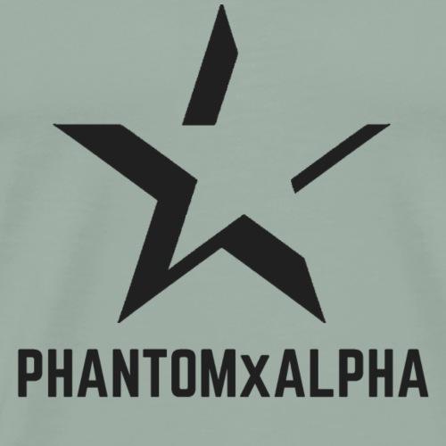 PHANTOMxALPHA (Black Logo) - Men's Premium T-Shirt