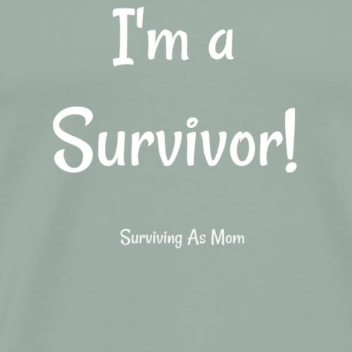 I'm a Survivor white - Men's Premium T-Shirt