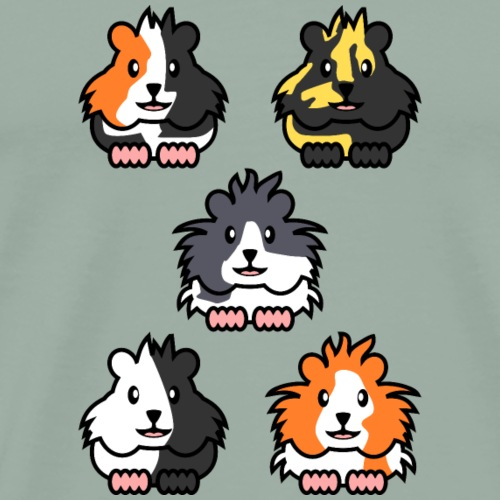 All five guinea pigs - Men's Premium T-Shirt