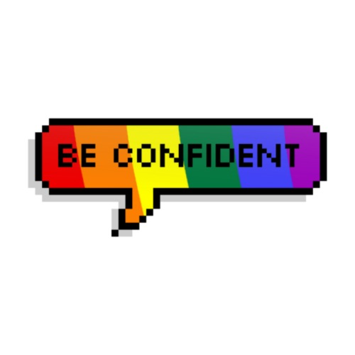 Be confident. LGBT - Men's Premium T-Shirt