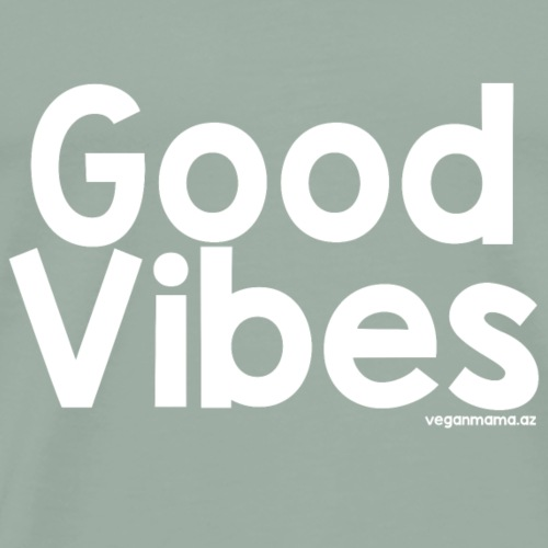 Good Vibes in White - Men's Premium T-Shirt