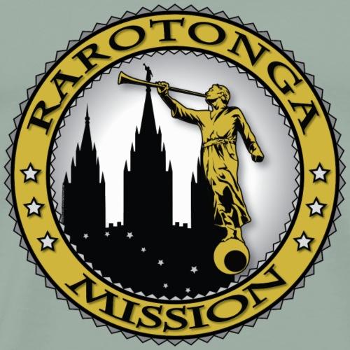 Rarotonga Mission - LDS Mission Classic Seal Gold - Men's Premium T-Shirt