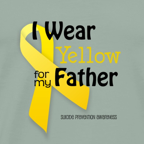 Yellow for Father - Suicide Prevention Awareness - Men's Premium T-Shirt
