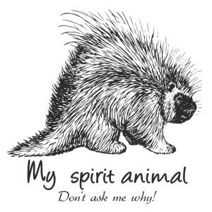 Porcupine Spirit Animal - Men's Premium T-Shirt