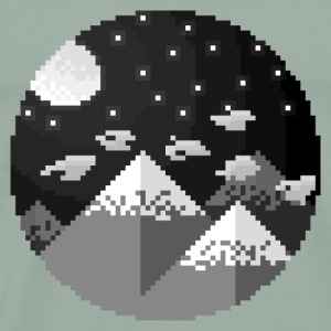 Moonlit Mountains - Men's Premium T-Shirt