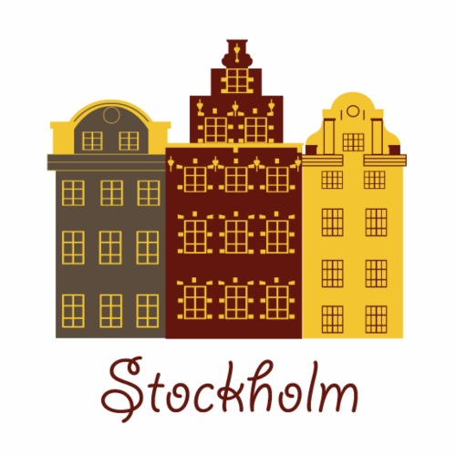 Cute Stockholm Logo Gift Present Idea - Men's Premium T-Shirt
