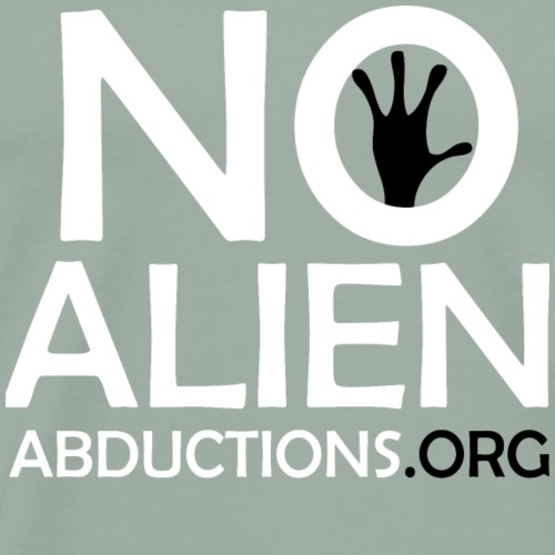 NoAlienAbdunctions.org Official logo - Men's Premium T-Shirt