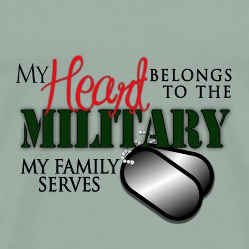 Military Tee Shirts - My Family Serves - Men's Premium T-Shirt