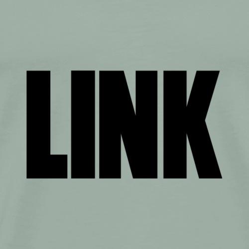 LINK Text Black - Men's Premium T-Shirt