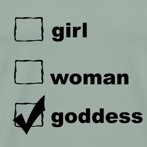 CHECKBOX GODDESS BLACK - Men's Premium T-Shirt