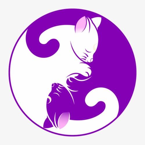 Ying Yang Cat - Men's Premium T-Shirt