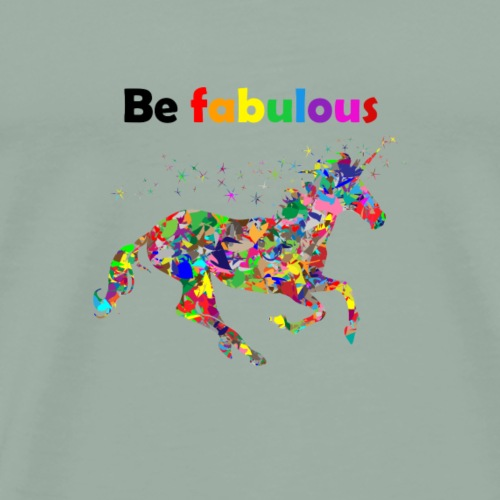 Fabulous colorful unicorn gift idea - Men's Premium T-Shirt