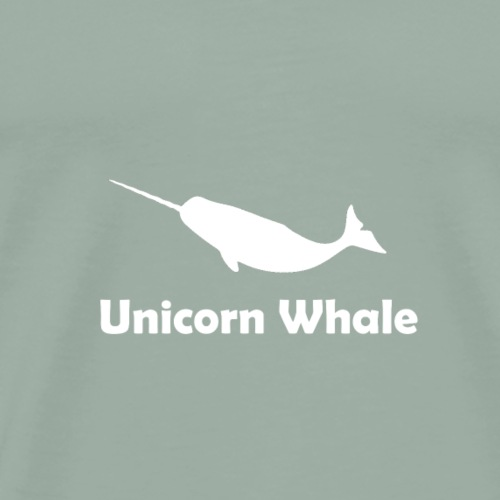 Unicorn Whale Narwhale 2 white gift - Men's Premium T-Shirt