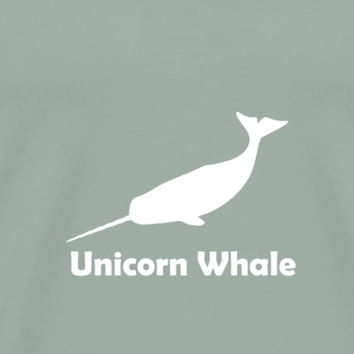Unicorn Whale Narwhale 1 white gift - Men's Premium T-Shirt