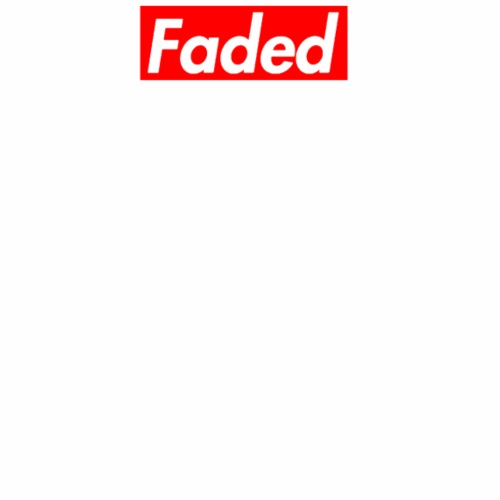 Faded Box Logo - Supreme Red (Clear Text) - Men's Premium T-Shirt