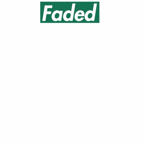 Faded Box Logo - Weed Green (Clear Text) - Men's Premium T-Shirt