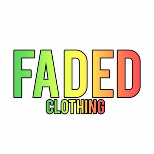 Faded Clothing Logo - Rasta Rainbow - Men's Premium T-Shirt