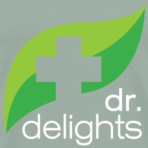 Dr Delights Square Logo White 4000 pix - Men's Premium T-Shirt