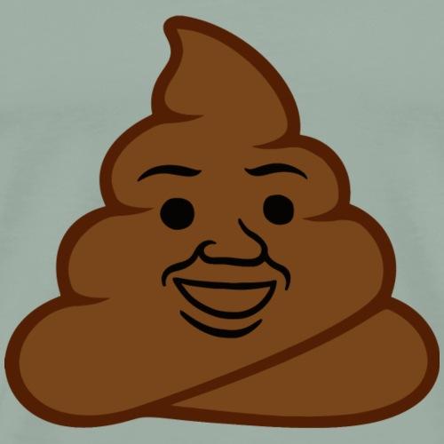 Poop Emoticon - Men's Premium T-Shirt