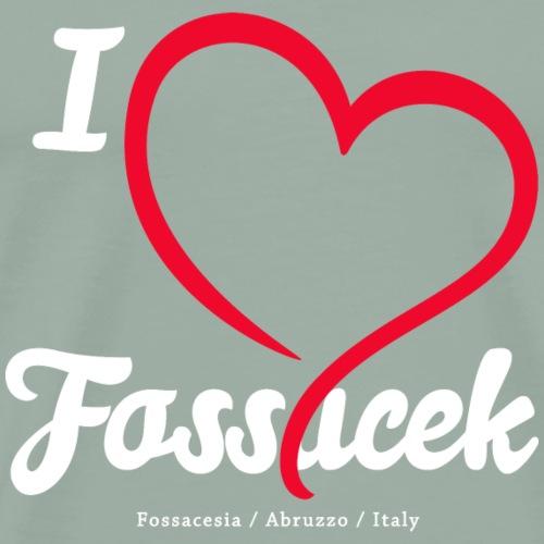 I love Fossacek -White - Men's Premium T-Shirt