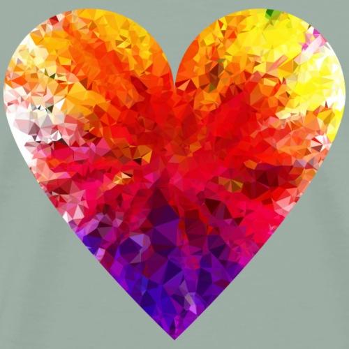 colorful Heart Design - Men's Premium T-Shirt