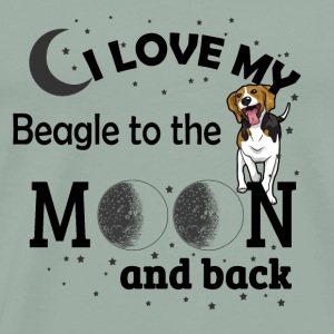 05 i love my Beagle black - Men's Premium T-Shirt