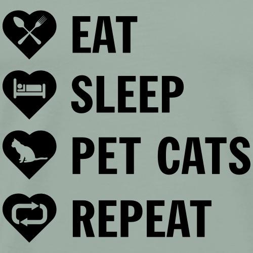 pet cats - Men's Premium T-Shirt