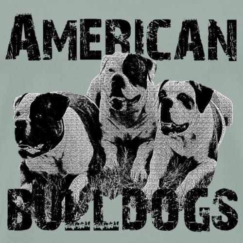 Bulldogs,dog holder, dog lover, animals, dogs, - Men's Premium T-Shirt