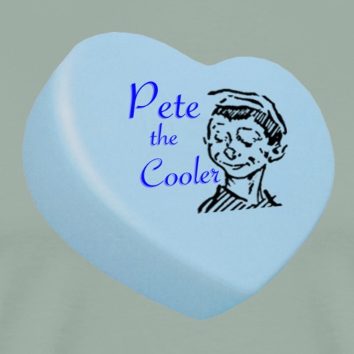 Pete the Cooler Candy Heart - blue - Men's Premium T-Shirt
