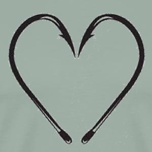 Fishing Hook Heart - Men's Premium T-Shirt