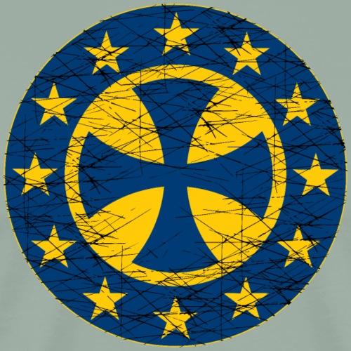 EU Flag Crusader Cross - Men's Premium T-Shirt