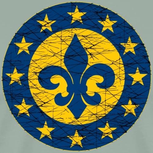 EU Flag French Fleur-de-lis - Men's Premium T-Shirt
