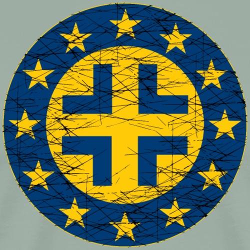 EU Flag and German Cross - Men's Premium T-Shirt