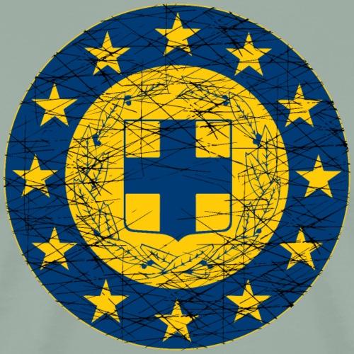 EU and Greece flags - Men's Premium T-Shirt