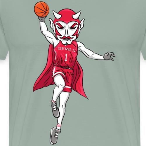 custom red devil mascot basketball - Men's Premium T-Shirt