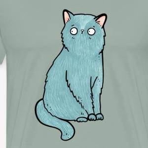 Blue Cat Curious Animal Shirt - Men's Premium T-Shirt