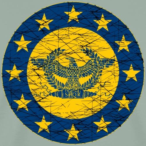 Roman Standard and the EU Flag - Men's Premium T-Shirt