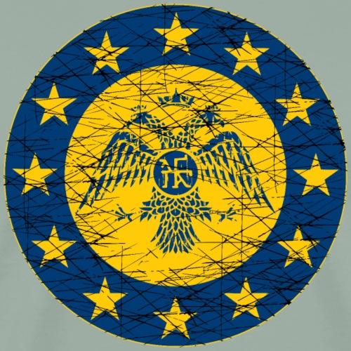 Byzantine Empire standard and EU Flag - Men's Premium T-Shirt
