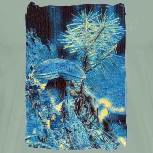 VAN GOGH PAINTS A BOLET IN THE WOODS. - Men's Premium T-Shirt
