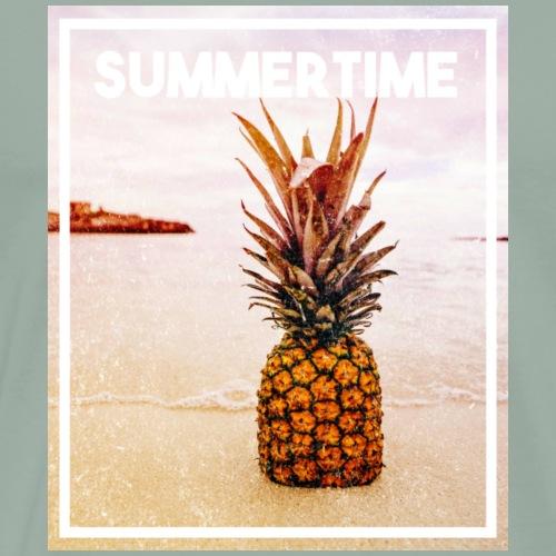 pineapple in sand - Men's Premium T-Shirt