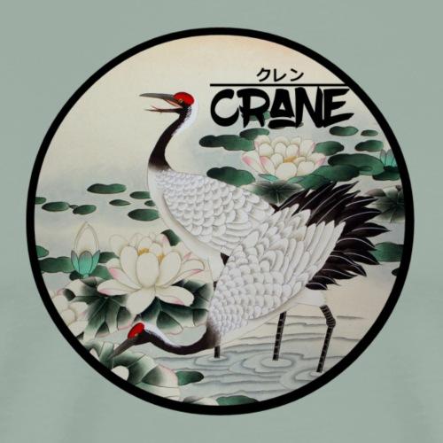 Cranes in Lake - Men's Premium T-Shirt
