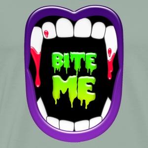 BITE ME Vampire Fangs Colorful Graphic Tee Dracula - Men's Premium T-Shirt
