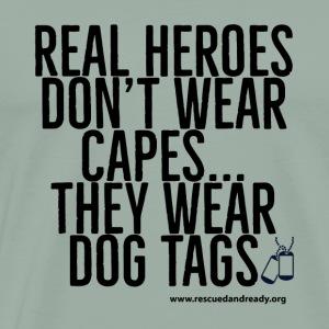 Real Heroes Black - Men's Premium T-Shirt