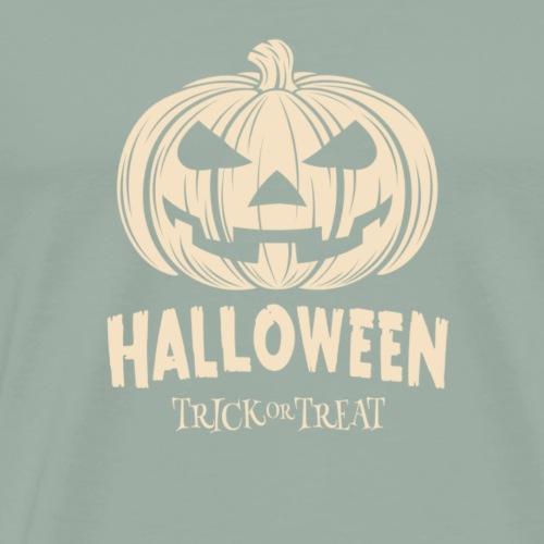 Pumpkin Halloween Trick or Treat Tee Shirt - Men's Premium T-Shirt