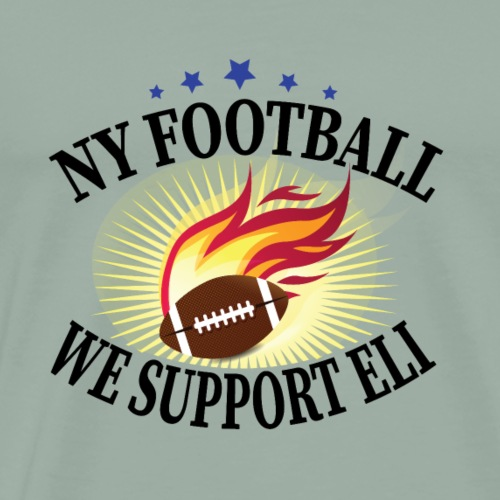 NY Football We Support Eli - Men's Premium T-Shirt