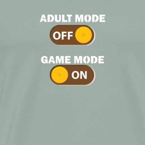 Funny Gaming Shirt - Adult Mode Off - Men's Premium T-Shirt