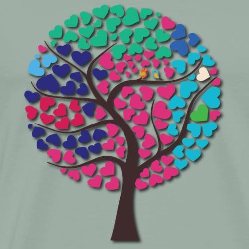 Love tree Wedding Guest Book - Men's Premium T-Shirt