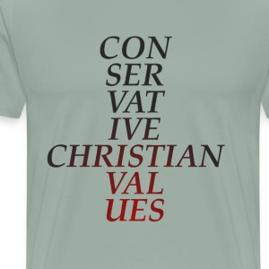 Conservative Christian Values (Red Tint) - Men's Premium T-Shirt