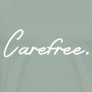 Carefree White Writing - Men's Premium T-Shirt